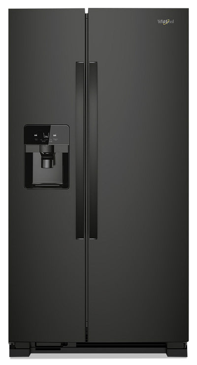 Whirlpool 21 Cu. Ft. Side-by-Side Refrigerator - WRS321SDHB - Refrigerator in Black