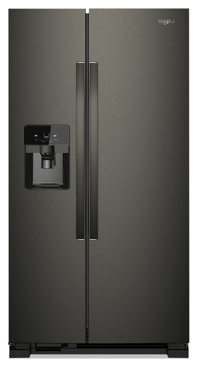 Whirlpool 21 Cu. Ft. Side-by-Side Refrigerator - WRS321SDHV - Refrigerator in Black Stainless Steel