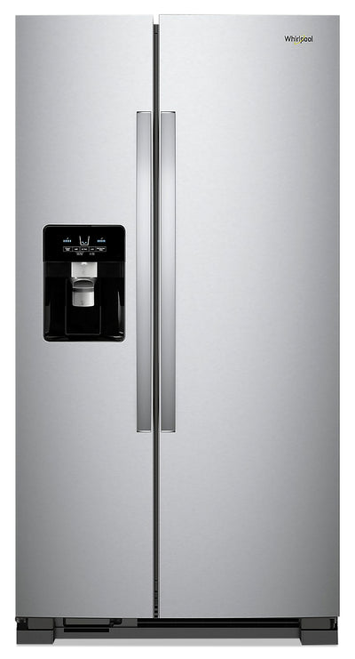 Whirlpool 21 Cu. Ft. Side-by-Side Refrigerator - WRS321SDHZ - Refrigerator in Fingerprint Resistant Stainless Steel