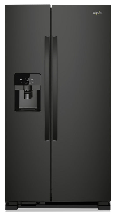 Whirlpool 25 Cu. Ft. Side-by-Side Refrigerator - WRS325SDHB - Refrigerator in Black