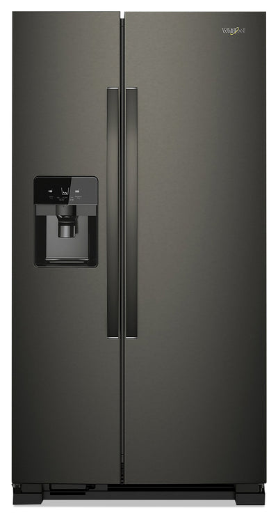 Whirlpool 25 Cu. Ft. Side-by-Side Refrigerator - WRS325SDHV - Refrigerator in Black Stainless Steel