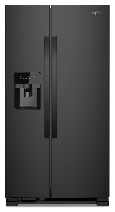 Whirlpool 21 Cu. Ft. Side-by-Side Refrigerator - WRS331SDHB - Refrigerator in Black