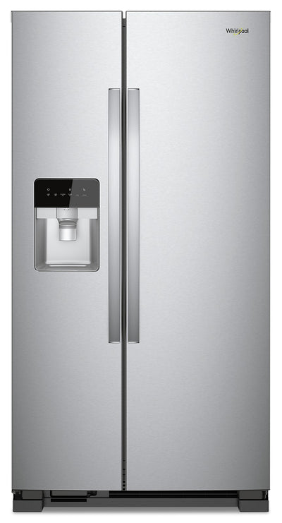 Whirlpool 21 Cu. Ft. Side-by-Side Refrigerator - WRS331SDHM - Refrigerator in Monochromatic Stainless Steel