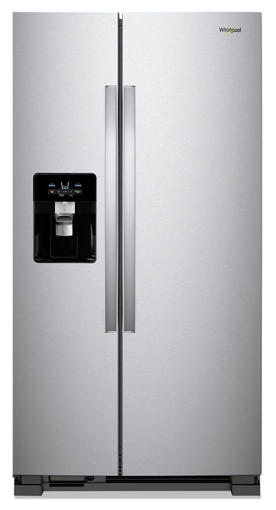 Whirlpool 25 Cu. Ft. Side-by-Side Refrigerator - WRS335SDHM - Refrigerator in Monochromatic Stainless Steel
