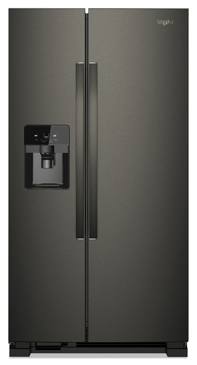 Whirlpool 25 Cu. Ft. Side-by-Side Refrigerator - WRS555SIHV - Refrigerator in Black Stainless Steel