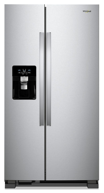 Whirlpool 25 Cu. Ft. Side-by-Side Refrigerator - WRS555SIHZ - Refrigerator in Fingerprint Resistant Stainless Steel