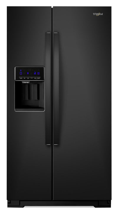 Whirlpool 21 Cu. Ft. Counter-Depth Side-by-Side Refrigerator - WRS571CIHB - Refrigerator in Black