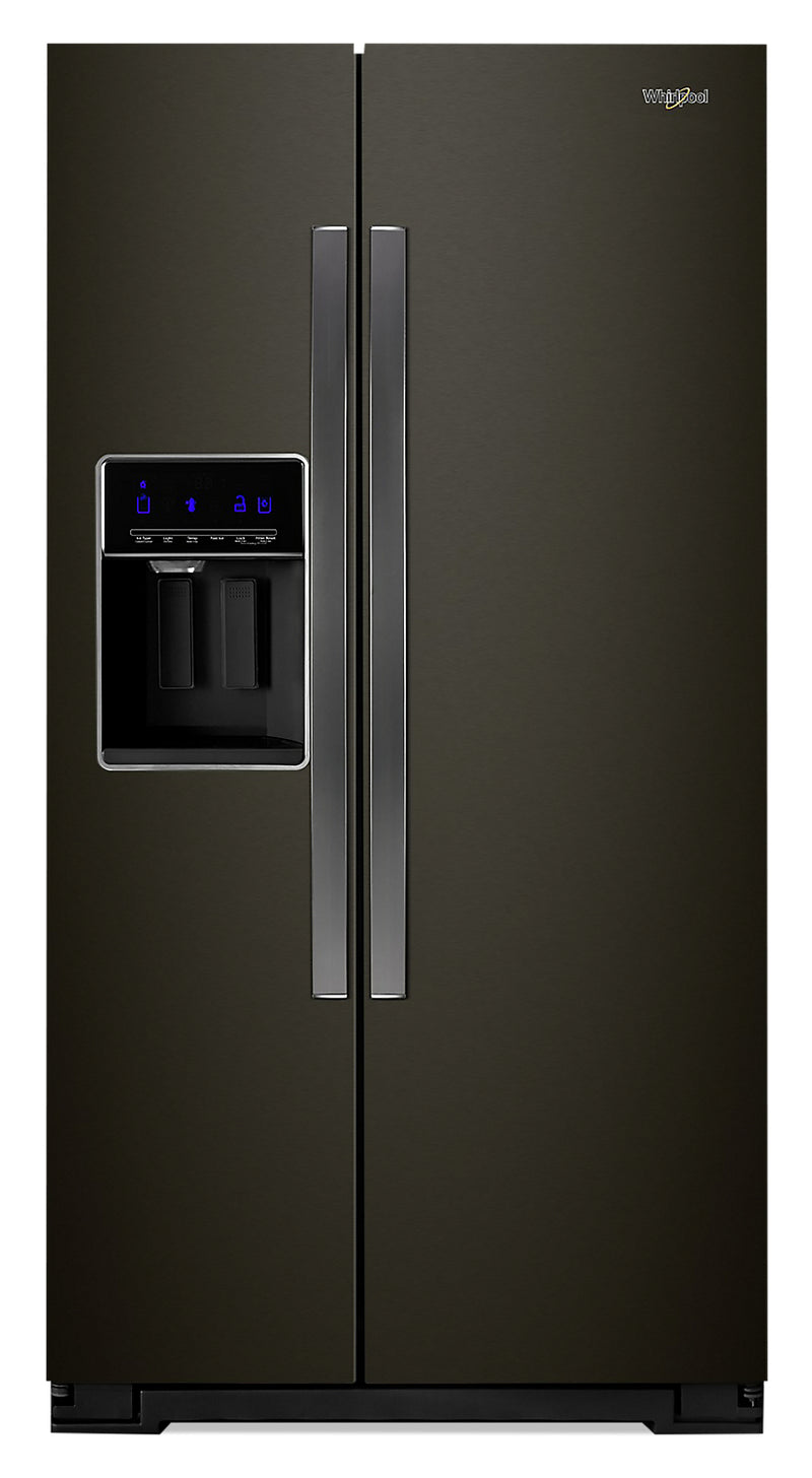 Whirlpool 21 Cu. Ft. Counter-Depth Side-by-Side Refrigerator - WRS571CIHV - Refrigerator in FingerPrint Resistant Black Stainless Steel