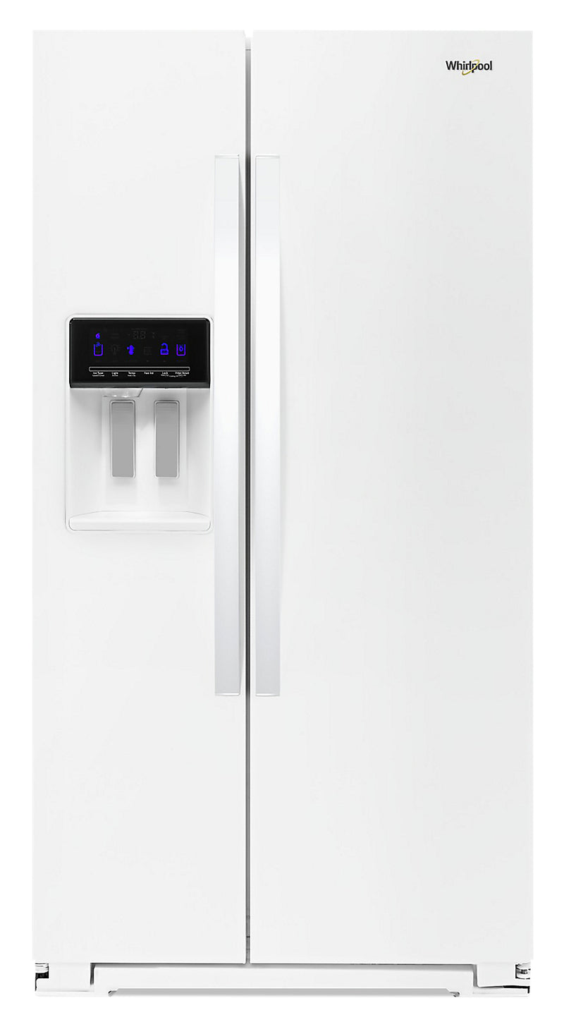 Whirlpool 21 Cu. Ft. Counter-Depth Side-by-Side Refrigerator - WRS571CIHW - Refrigerator in White