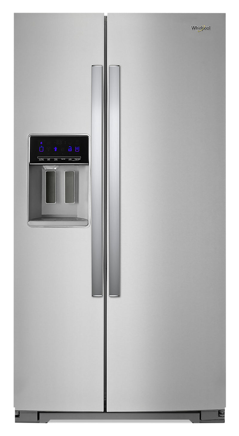 Whirlpool 21 Cu. Ft. Counter-Depth Side-by-Side Refrigerator - WRS571CIHZ - Refrigerator in Fingerprint Resistant Stainless Steel