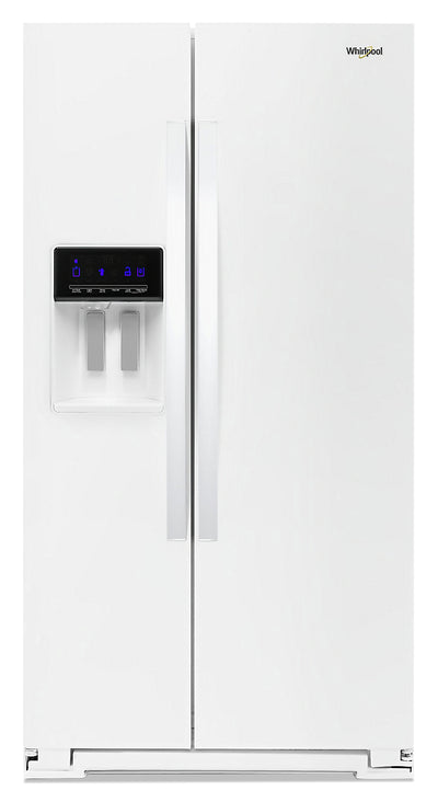 Whirlpool 28 Cu. Ft. Side-by-Side Refrigerator with Exterior Water Dispenser - WRS588FIHW - Refrigerator in White