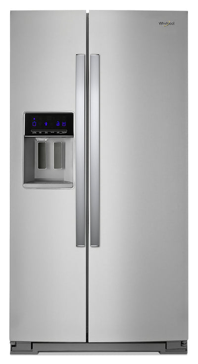Whirlpool 28 Cu. Ft. Side-by-Side Refrigerator with Exterior Water Dispenser - WRS588FIHZ - Refrigerator in Fingerprint Resistant Stainless Steel
