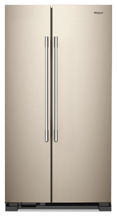 Whirlpool 25 Cu. Ft. Side-by-Side Refrigerator - WRSA15SNHN - Refrigerator in Fingerprint Resistant Sunset Bronze