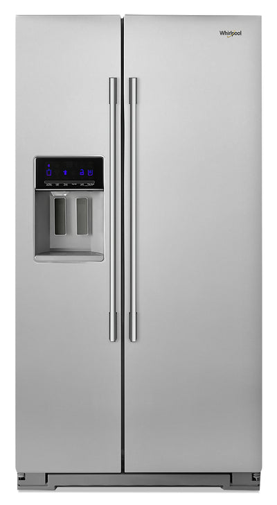 Whirlpool 21 Cu. Ft. Counter-Depth Side-by-Side Refrigerator - WRSA71CIHZ - Refrigerator in Fingerprint Resistant Stainless Steel
