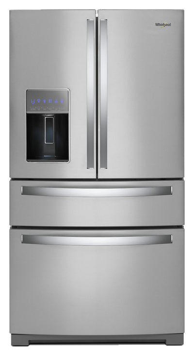 Whirlpool 26 Cu. Ft. 4-Door Refrigerator with Exterior Drawer - WRX986SIHZ - Refrigerator in Fingerprint Resistant Stainless Steel