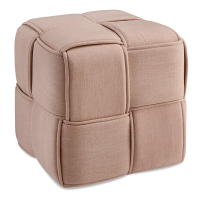 West Polyester Ottoman - Blush - {Contemporary}, {Eclectic} style Ottoman in Blush