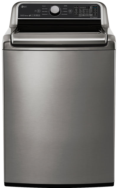 LG 5.8 Cu. Ft. Top-Load Smart Washer with TurboWash® Technology - WT7300CV|Laveuse intelligente LG à chargement par le haut de 6,0 pi3 avec technologie TurboWashMC – WT7300CV|WT7300CV