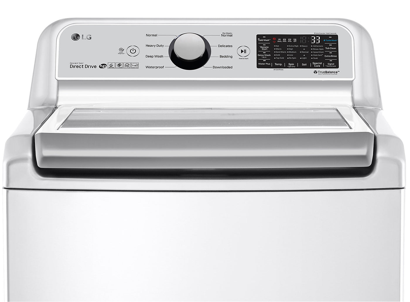 LG 5 8 Cu Ft Top-Load Smart Washer with TurboWash® - WT7300CW