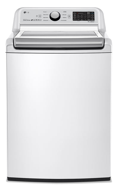 LG 5.8 Cu.Ft Top-Load Smart Washer with TurboWash® - WT7300CW - Washer in White
