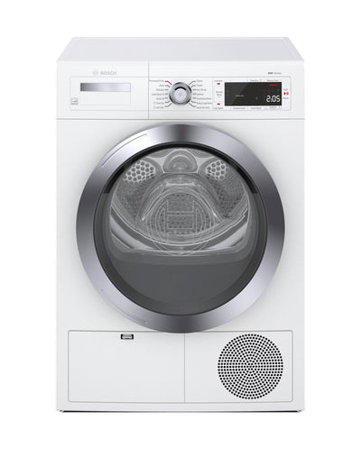 Bosch Home Connect 4.0 Cu. Ft. Compact 800 Series Electric Dryer - WTG865H3UC - Dryer in White
