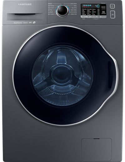 Samsung 2.6 Cu. Ft. Front-Load Washer with SuperSpeed - WW22K6800AX/A2 - Washer in Inox Grey
