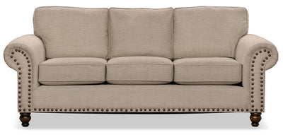 Wynn Chenille Sofa Bed – Beige - Traditional style Sofa Bed in Beige