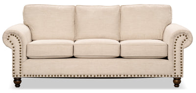Wynn Chenille Sofa – Linen - Traditional style Sofa in Linen