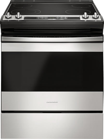 Amana 4.8 Cu. Ft. Electric Slide-In Range with Front Console – YAES6603SFS - Electric Range in Stainless Steel