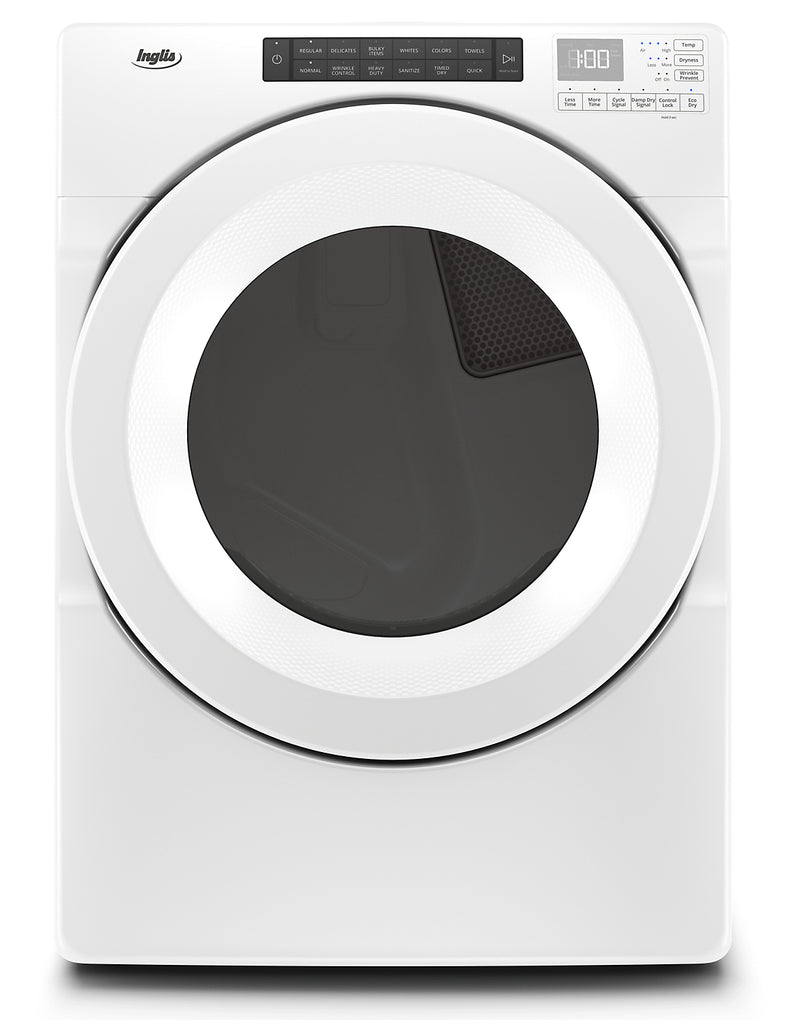 Inglis 7.4 Cu. Ft. Electric Dryer with Intuitive Touch Controls - YIED5900HW|Sécheuse électrique Inglis de 7,4 pi3 avec commandes tactiles intuitives - YIED5900HW|YIED5900