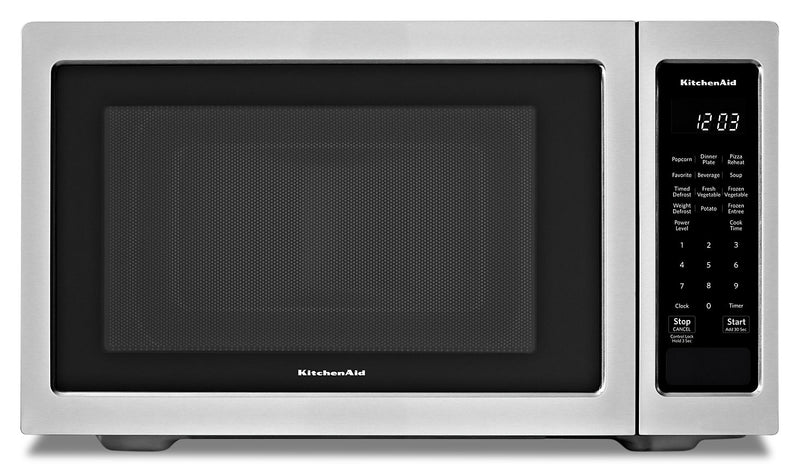 KitchenAid Stainless Steel Countertop Microwave Oven - YKMCS1016GS|Four à micro-ondes de comptoir KitchenAid en acier inoxydable - YKMCS1016GS