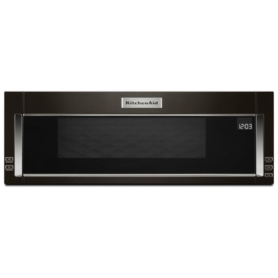 KitchenAid 1.1 Cu. Ft. Low-Profile Microwave Hood Combination – YKMLS311HBS - Over-The-Range Microwave in Black Stainless