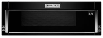 KitchenAid 1.1 Cu. Ft. Low-Profile Microwave Hood Combination – YKMLS311HBL|Four à micro-ondes à hotte intégrée et à profil bas de KitchenAid de 1,1 pi³ - YKMLS311HBL|YKMLS31L