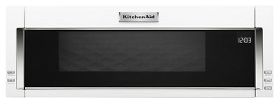 KitchenAid 1.1 Cu. Ft. Low-Profile Microwave Hood Combination - YKMLS311HWH|Four à micro-ondes à hotte intégrée et à profil bas de KitchenAid de 1,1 pi³ - YKMLS311HWH|YKMLS31W