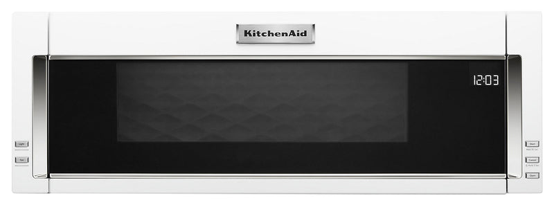 KitchenAid 1.1 Cu. Ft. Low-Profile Microwave Hood Combination – YKMLS311HWH - Over-The-Range Microwave in White