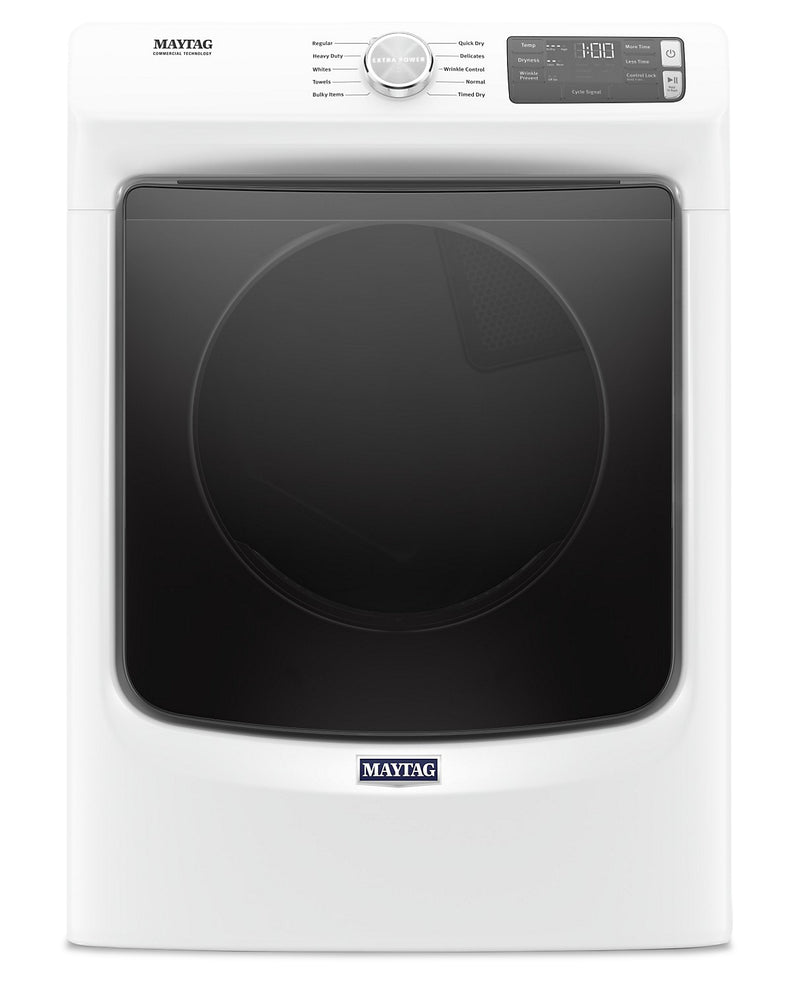 Maytag 7.3 Cu. Ft. Front-Load Gas Dryer with Extra Power – MGD5630HW | Sécheuse gaz Maytag à chargement frontal 7,3 pi3, fonction Extra Power - MGD5630HW