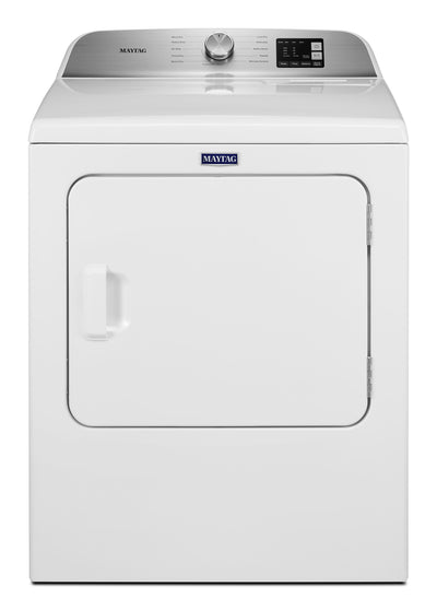 Maytag 7.0 Cu. Ft. Top-Load Electric Dryer with Advanced Moisture Sensing - YMED6200KW - Dryer in White
