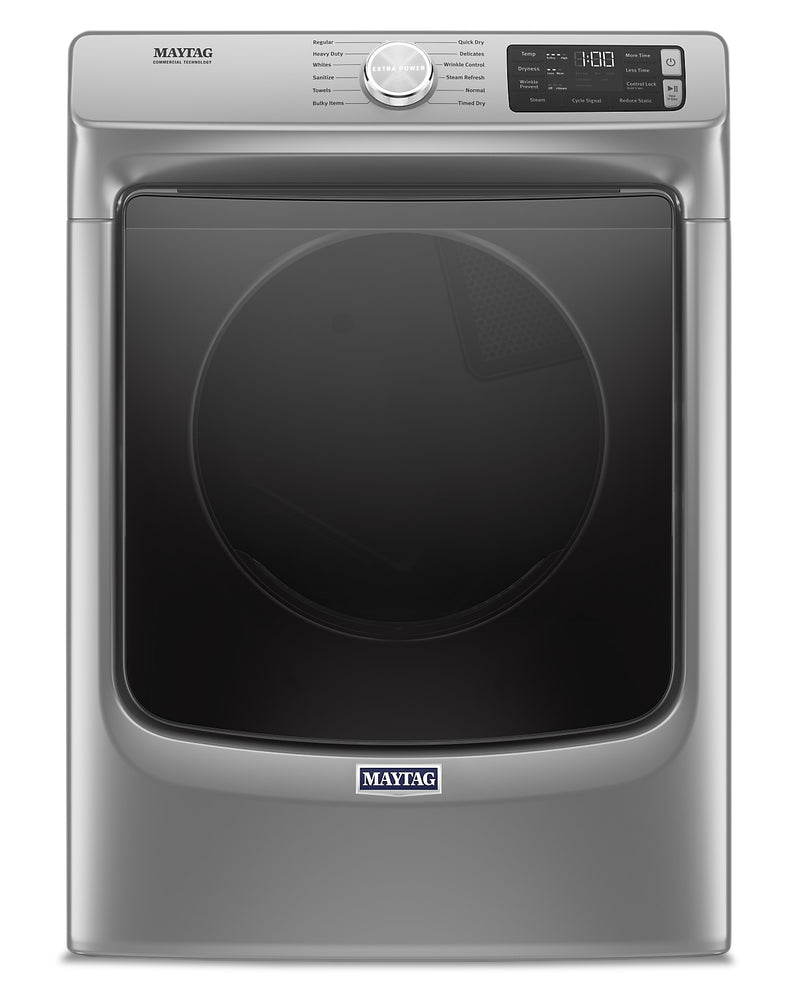 Maytag 7.3 Cu. Ft. Front-Load Electric Dryer with Extra Power and Steam – YMED6630HC|Sécheuse électrique Maytag à chargement frontal 7,3 pi3, fonction Extra Power et vapeur - YMED6630HC