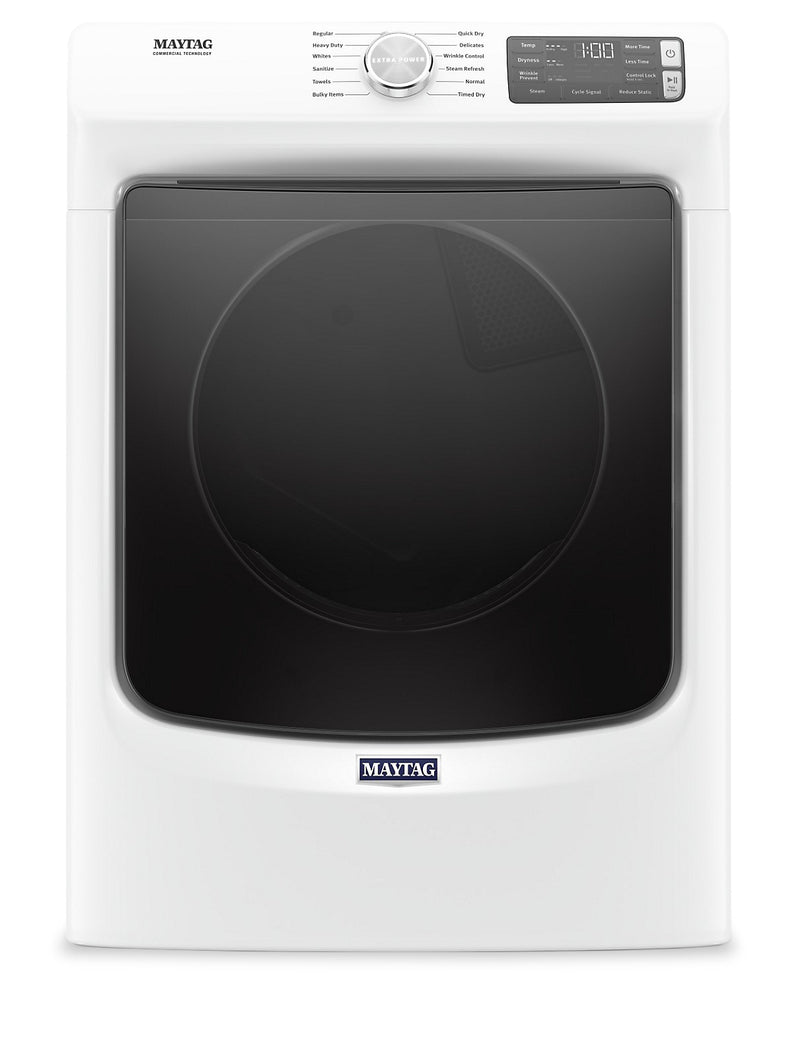 Maytag 7.3 Cu. Ft. Front-Load Electric Dryer with Extra Power and Steam – YMED6630HW|YMED663W