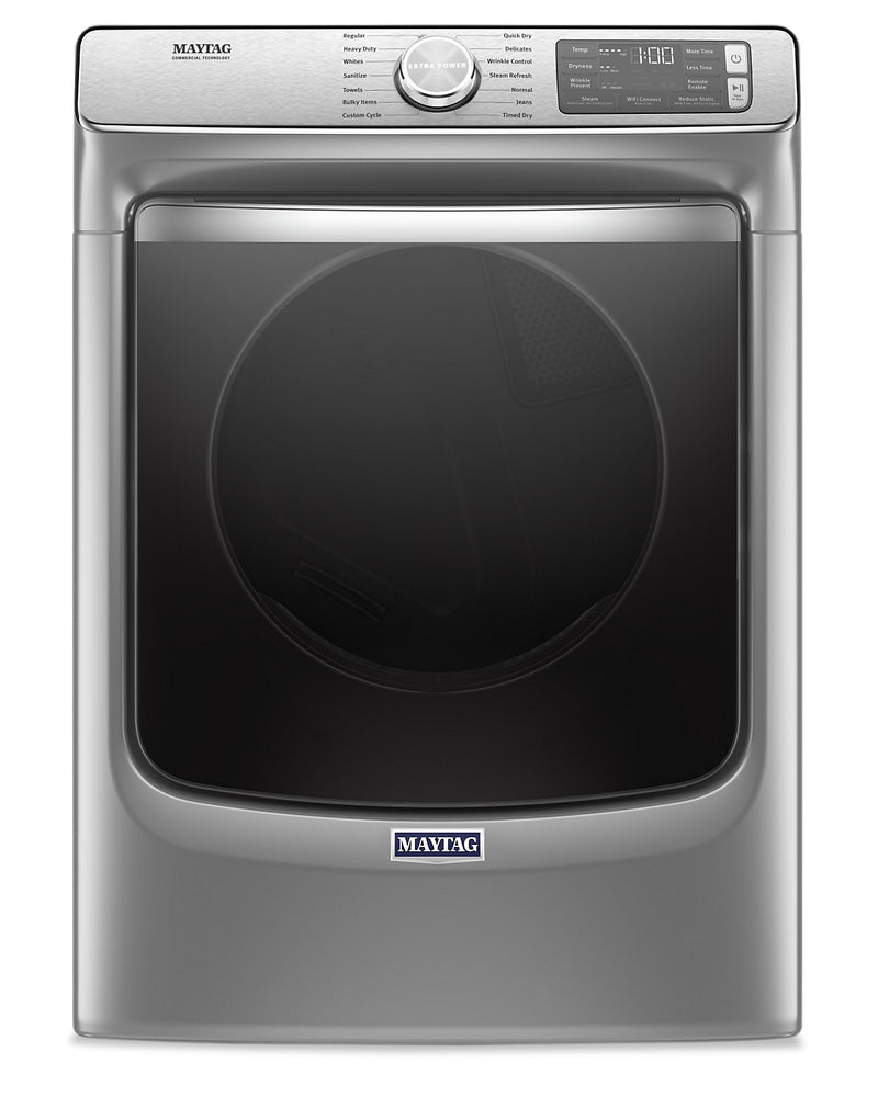 Maytag 7.3 Cu. Ft. Smart Front-Load Electric Dryer with Extra Power and Steam - YMED8630HC|Sécheuse électrique intelligente Maytag frontale 7,3 pi3, fonction Extra Power et vapeur - YMED8630HC|YMED863C