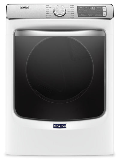 Maytag 7.3 Cu. Ft. Smart Front-Load Electric Dryer with Extra Power and Steam - YMED8630HW|Sécheuse électrique intelligente Maytag frontale 7,3 pi3, fonction Extra Power et vapeur - YMED8630HW|YMED863W