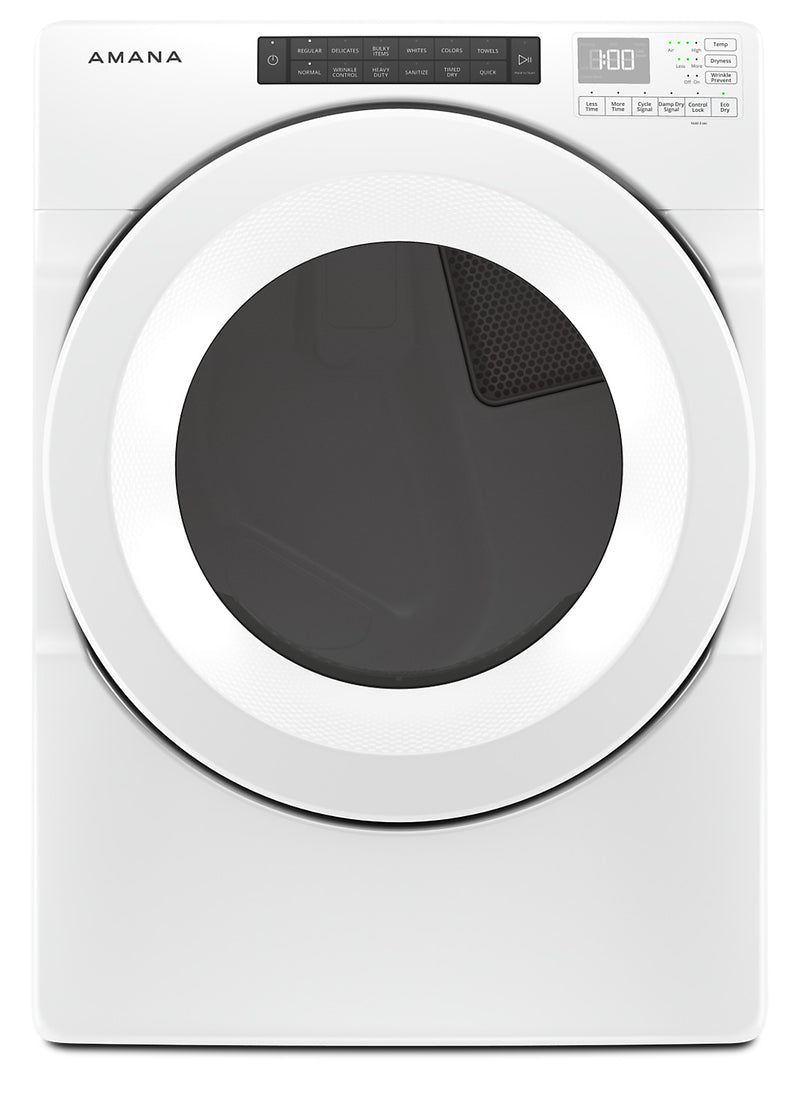Amana 7.4 Cu. Ft. Front-Load Electric Dryer - YNED5800HW|Sécheuse électrique à chargement frontal Amana de 7,4 pi3 - YNED5800HW|YNED5800