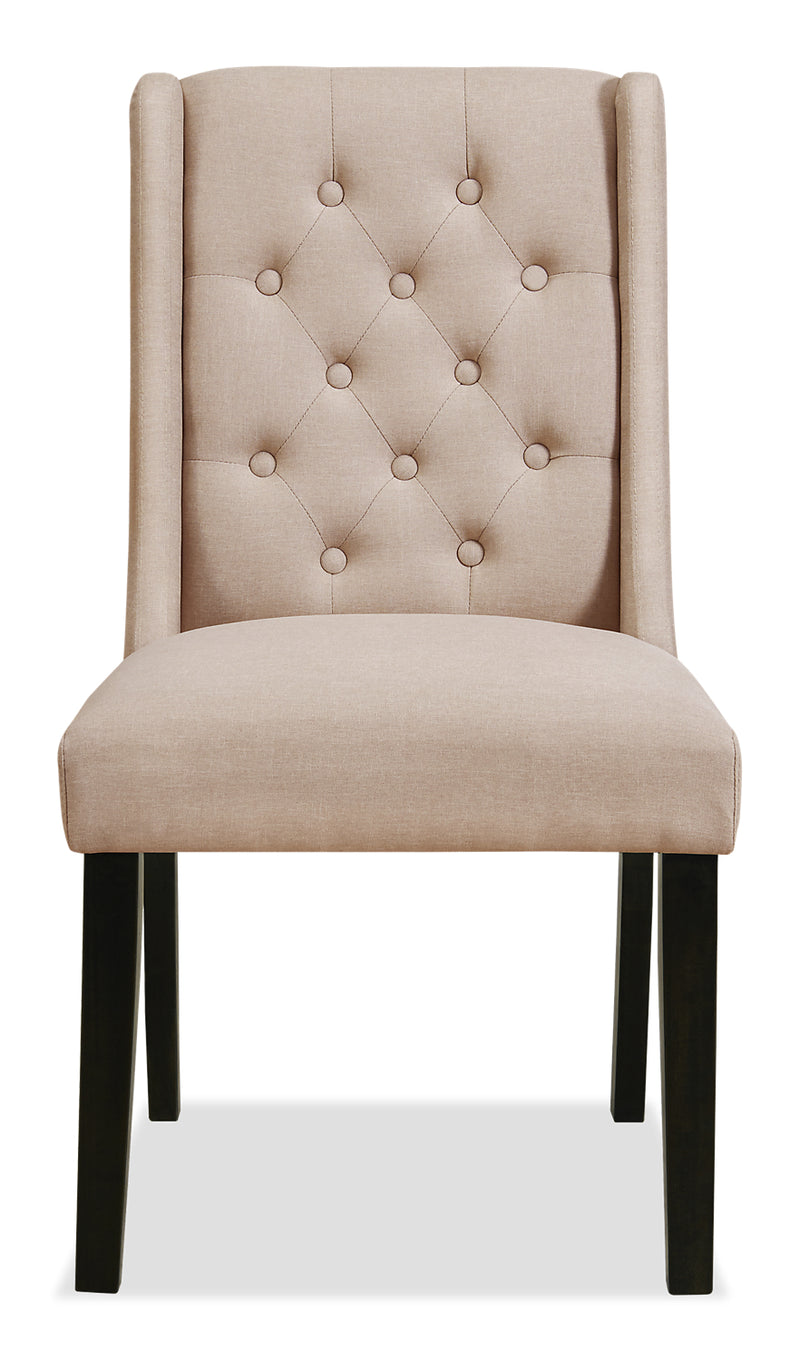 York Wingback Dining Chair Taupe Chaise 224 Oreilles De