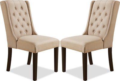 York Wingback Dining Chair, Set of 2 – Taupe|Chaise à oreilles de salle à manger York, ensemble de 2 – taupe|YRK2TWSP