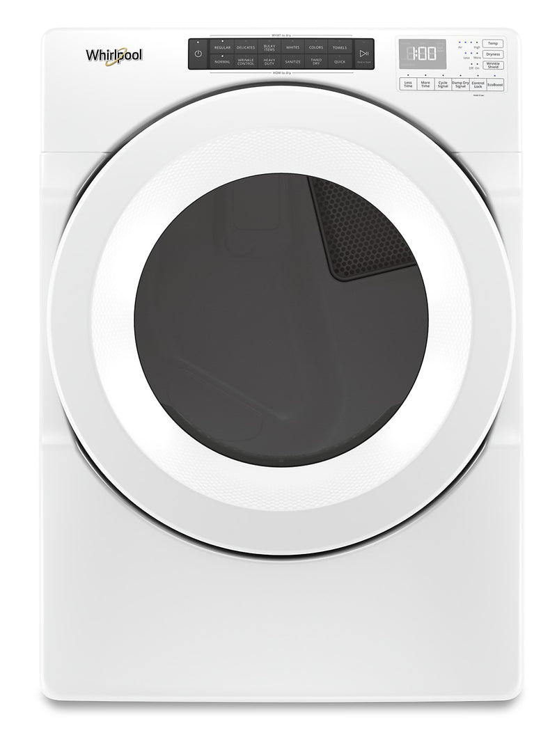 Whirlpool 7.4 Cu. Ft. Front-Load Electric Dryer with Intuitive Touch Controls – YWED5620HW | Sécheuse électrique Whirlpool chargement frontal 7,4 pi3 commandes tactiles intuitives - YWED5620HW