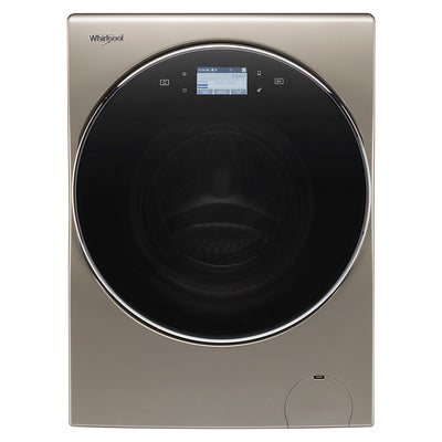 Whirlpool Ventless Smart All-In-One Washer and Dryer with Storage Pedestal – Grey|Laveuse/sécheuse intelligentes Whirlpool sans évacuation d'air et piédestal de rangement - YWFC8090GX|WHFL809P