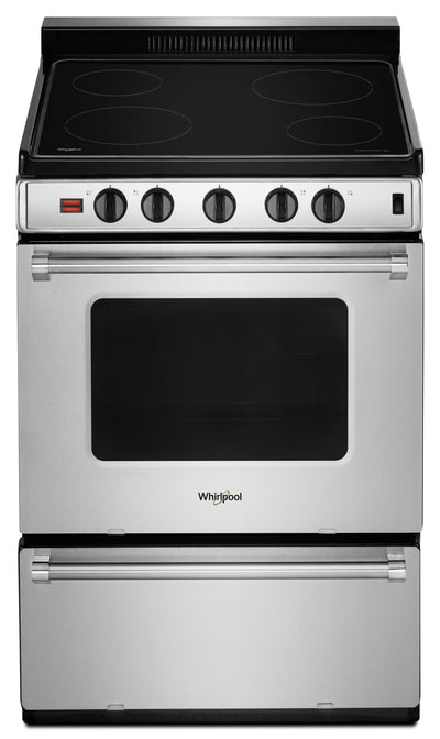 "Whirlpool 24"" 3.0 Cu. Ft. Freestanding Electric Range - YWFE50M4HS - Electric Range in Stainless Steel"