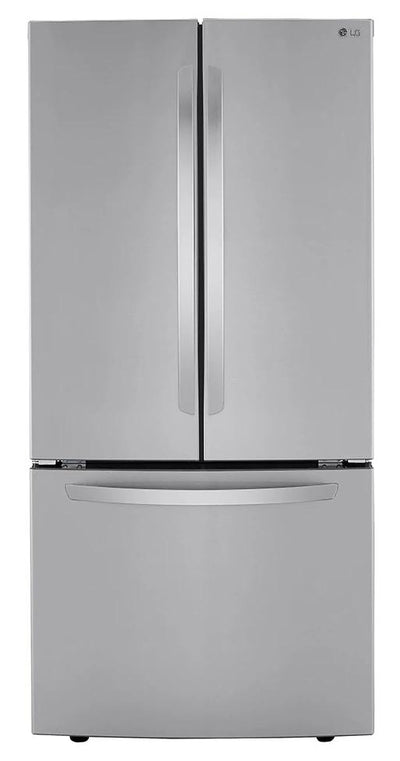 LG 25 Cu. Ft. Smudge Resistant French-Door Refrigerator - LRFCS2503S - Refrigerator in Stainless Steel