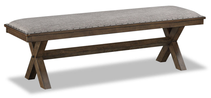 Zane Dining Bench - {Modern} style Dining Bench in Brown {Rubberwood}