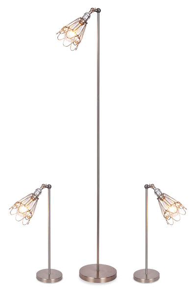 Zara 3-Piece Lamp Set|Ensemble 3 lampes Zara|ZARAX3PK