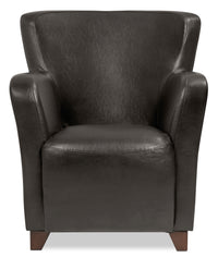 Zello Bonded Leather Accent Chair – Brown